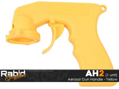 Aerosol Gun Handle - Yellow