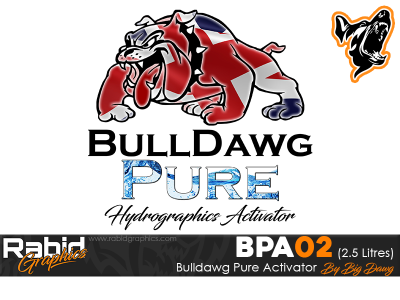 2.5 Litres Bulldog Pure Hydrographics Activator