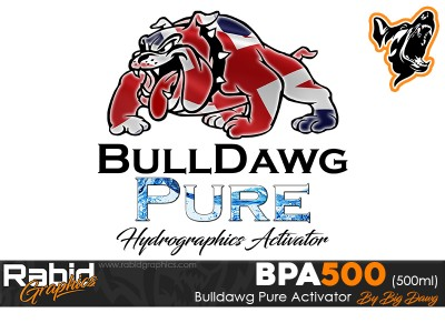 500ml Bulldog Pure Hydrographics Activator