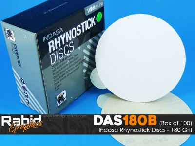 Indasa Rhynostick Discs - 180 Grit - Box of 100
