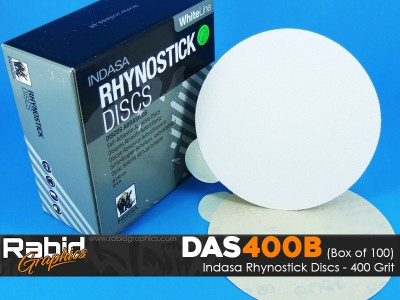 Indasa Rhynostick Discs - 400 Grit - Box of 100