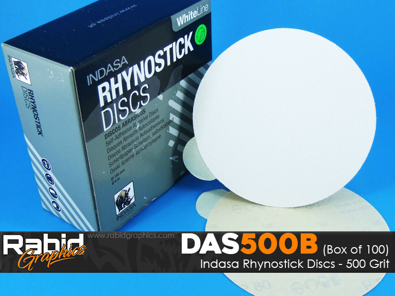 Indasa Rhynostick Discs - 500 Grit - Box of 100