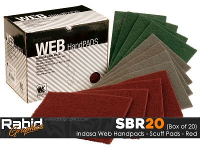 Indasa Web Handpads - Red