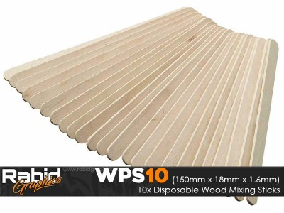Disposable Wood Mixing Sticks (Pack of 10)