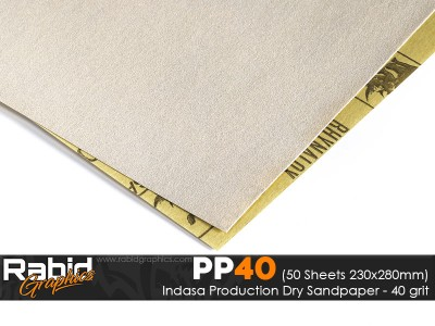 P40 Indasa Rhynalox Production Paper - Pack of 50 sheets - 230mm x 280mm