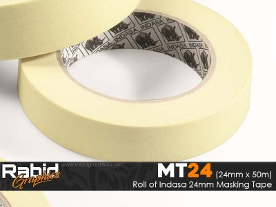 "Indasa 24mm 1"" Masking Tape (Roll)"