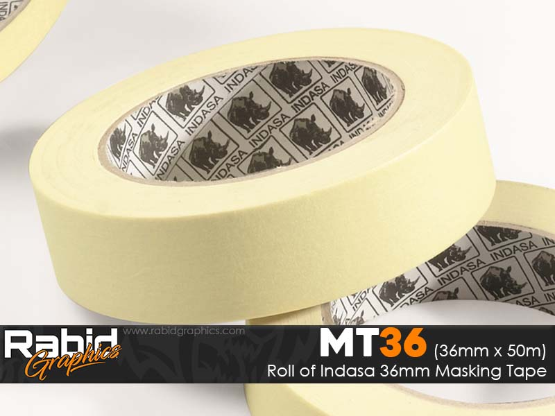 """Indasa 36mm 1 1/2"""" Masking Tape (Roll)"""