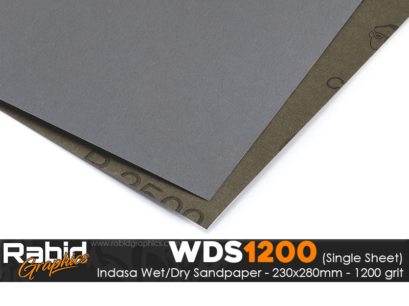 P1200 Indasa Rhynowet Wet/Dry Paper - Single Sheet - 230mm x 280mm