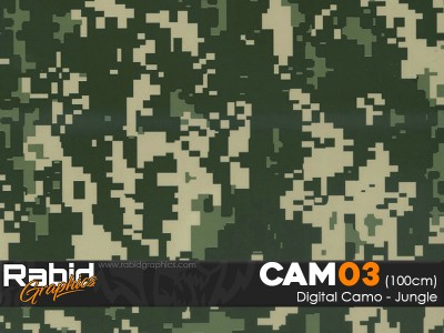 Digital Camo - Jungle (100cm)
