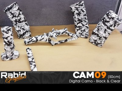 Digital Camo - Black & Clear (50cm)