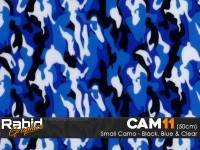 Small Camo - Black, Blue & White (50cm)