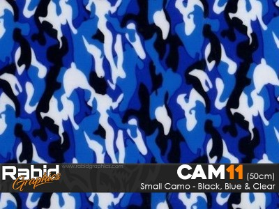 Small Camo - Black, Blue & White (50cm)