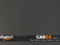True Weave (USA) Carbon - Gold (100cm)