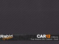True Weave (UK) Carbon - Gold (100cm)