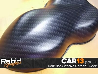 Dark Block Weave Carbon - Black (100cm)