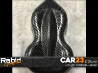 Rough Carbon - Silver (100cm)