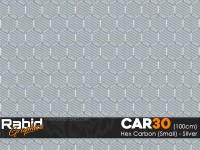 Hex Carbon (Small) - Silver (100cm)