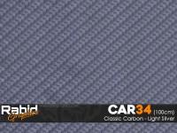 Classic Carbon - Light Silver (100cm)