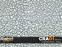 Cracked Paint - Black (90cm)