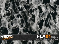 True Fire - Black & Clear (100cm)