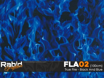 True Fire - Black & Blue (100cm)