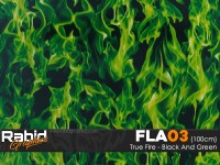 True Fire - Black & Green (100cm)