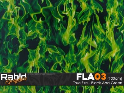 True Fire - Black & Green (100cm)