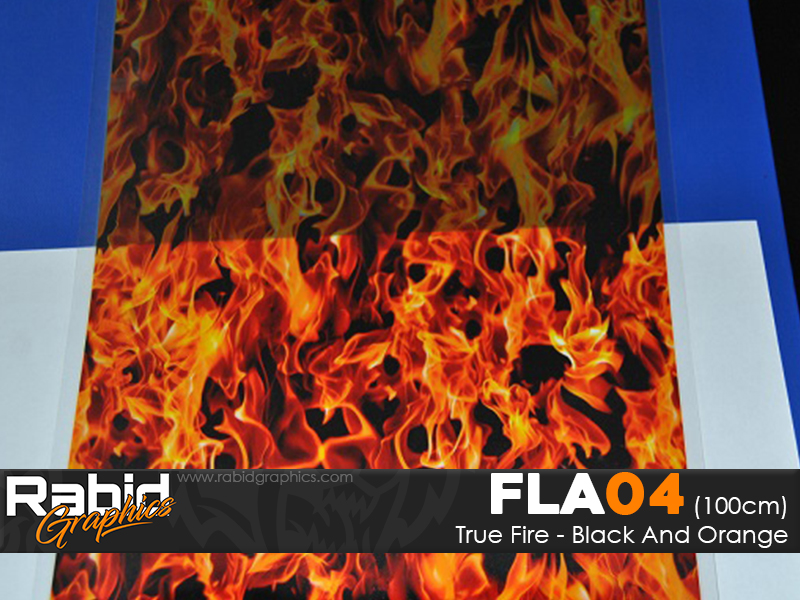 True Fire - Black & Orange (100cm)