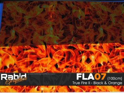 True Fire II - Black & Orange (100cm)