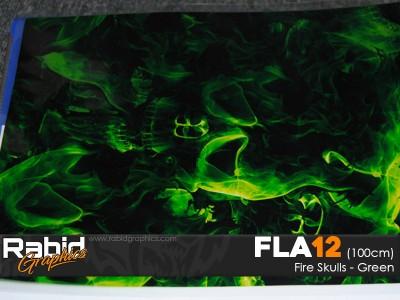 Fire Skulls - Green (100cm)