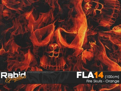 Fire Skulls - Orange (100cm)