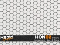 Honeycomb - Black & Clear (90cm)