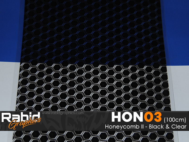 Honeycomb II - Black & Clear (100cm)