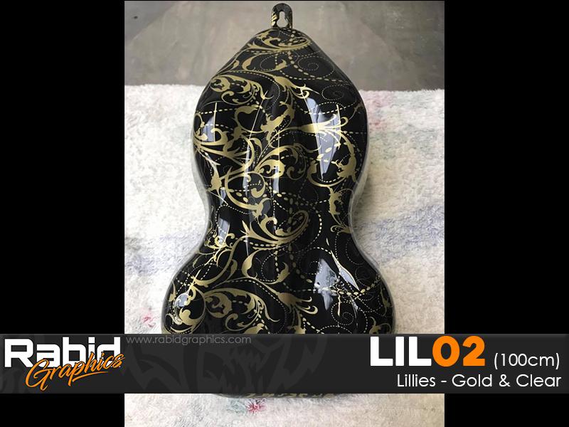 Lillies - Gold & Clear (90cm)