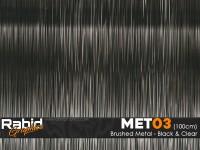 Brushed Metal - Black & Clear (100cm)