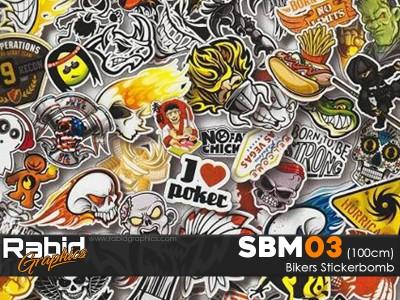 Bikers Stickerbomb (100cm)
