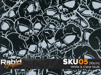 White & Clear Skulls (90cm)