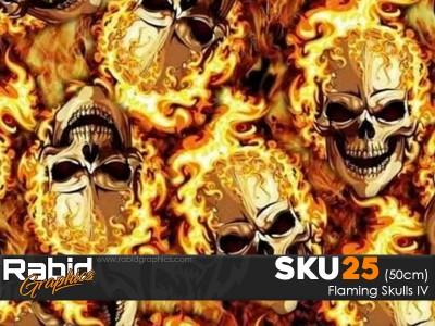 Flaming Skulls IV (50cm)