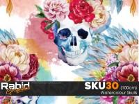 Watercolour Skulls (100cm)