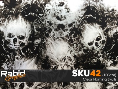 Clear Flaming Skulls (100cm)