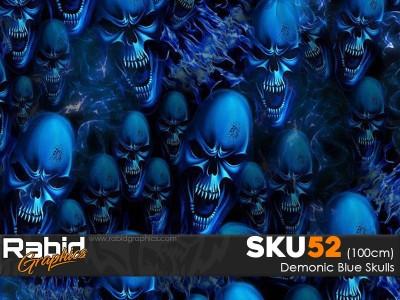 Demonic Blue Skulls (100cm)
