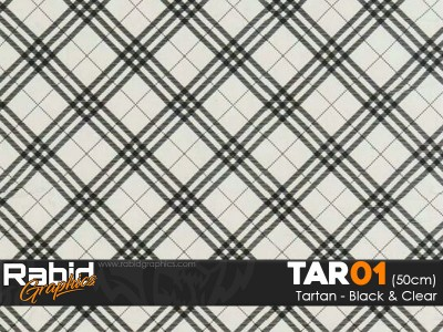 Tartan - Black and Clear (50cm)