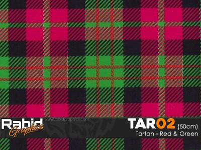 Tartan - Red and Green (50cm)