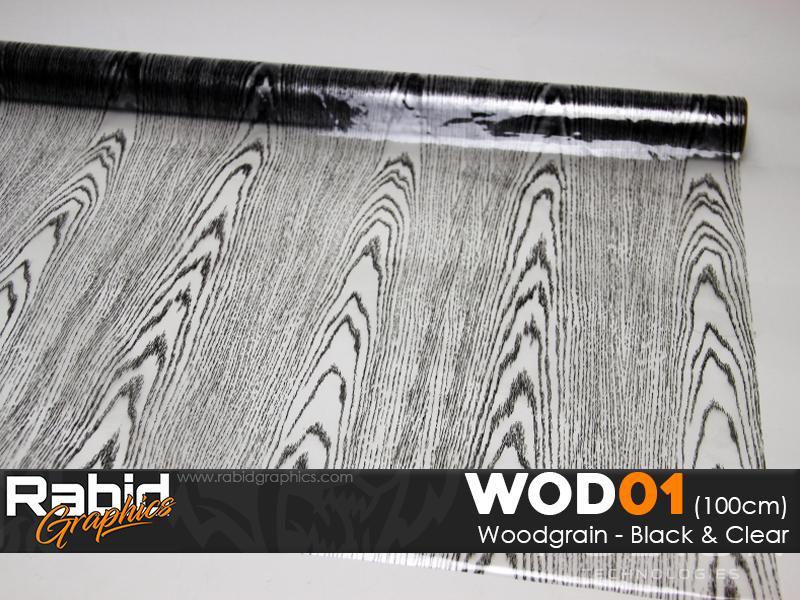 Woodgrain - Black & Clear (90cm)