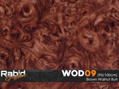 Brown Walnut Burl (90cm)
