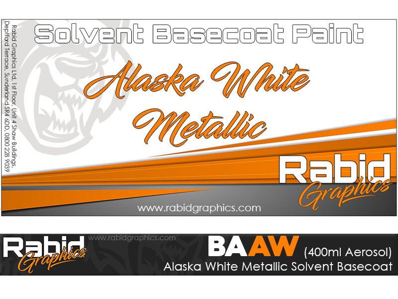 Alaska White Metallic Solvent Basecoat Aerosol (400ml)