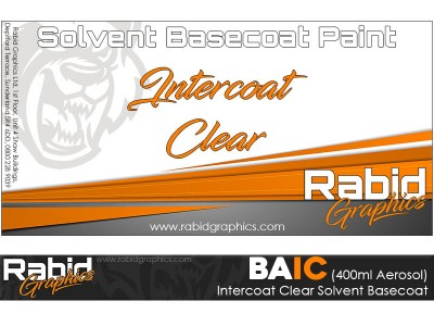 Intercoat Clear Solvent Basecoat Aerosol (400ml)