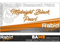 Midnight Black Pearl Solvent Basecoat Aerosol (400ml)