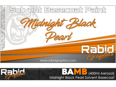Midnight Black Pearl Solvent Basecoat Aerosol (400ml)