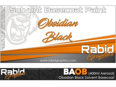 Obsidian Black Solvent Basecoat Aerosol (400ml)